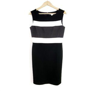 WHBM // Black, White & Gray Colorblock Shift Dress